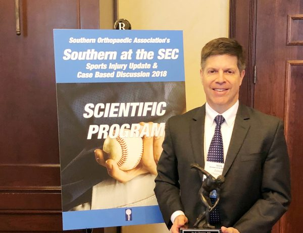 Dr. Jay Clugston named 2018 SEC Team Physician of the Year